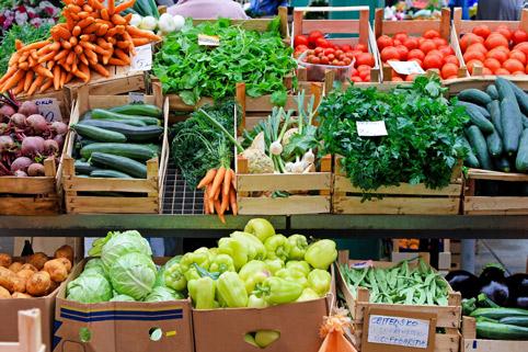 Продажа свежих овощей и фруктов
